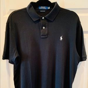 Ralph Lauren Pima soft touch Black men's polo
